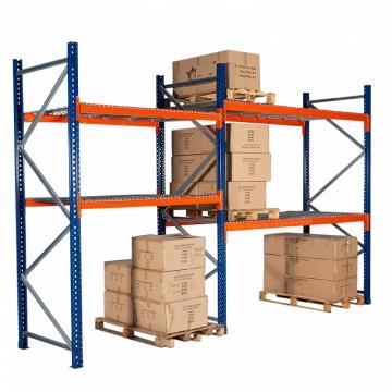 Rack de stockage professionnel, 1 élément de départ et 1 élément suivant lisse de 2700 mm